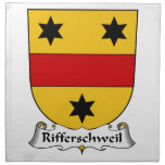 Rifferschweil Family Crest Cloth Napkin