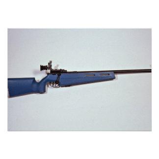 Rifle azul de la blanco del color anuncio