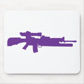 Rifle de asalto alfombrilla de ratón