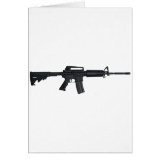Rifle de asalto AR15 Tarjeta De Felicitación