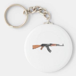 Rifle de asalto de AK47 Llavero Redondo Tipo Pin