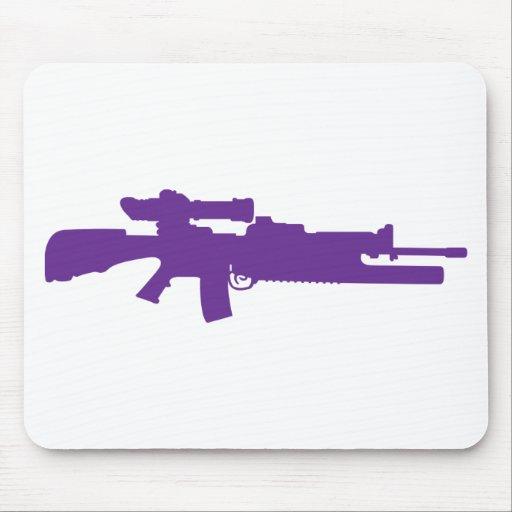 Rifle de asalto tapetes de ratón