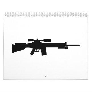 Rifle de francotirador calendario