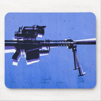 Rifle de francotirador M82 en azul Alfombrilla De Ratones