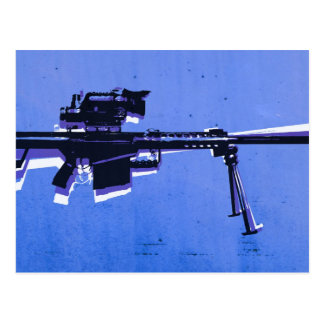 Rifle de francotirador M82 en azul Postal