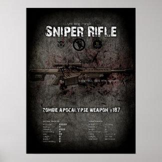 Rifle de francotirador poster del arma del zombi d