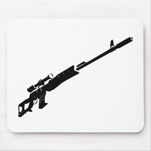 Rifle de francotirador tapete de ratón