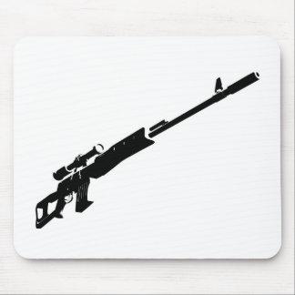 Rifle de francotirador tapetes de ratón