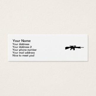 Rifle de francotirador tarjetas de visita mini