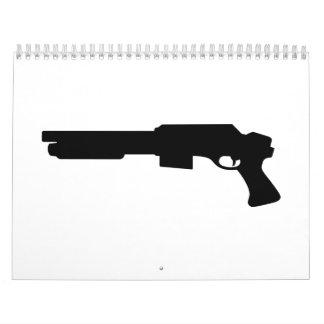 Rifle de la arma de mano calendarios
