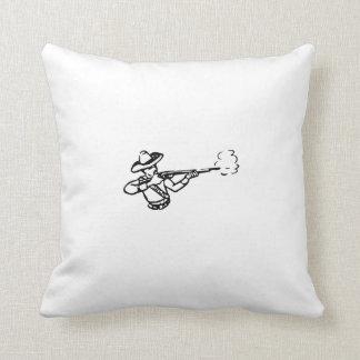 Rifle de la leña del vaquero almohadas