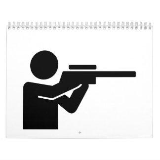 Rifle del cazador calendario de pared