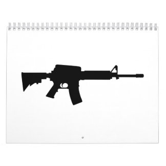Rifle del ejército calendario