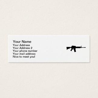 Rifle del ejército tarjetas de visita mini