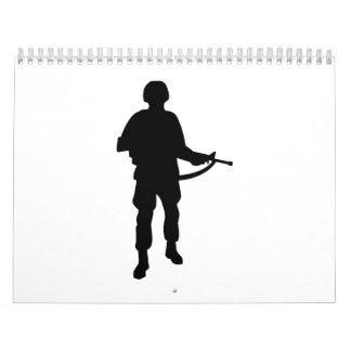 Rifle del soldado calendarios