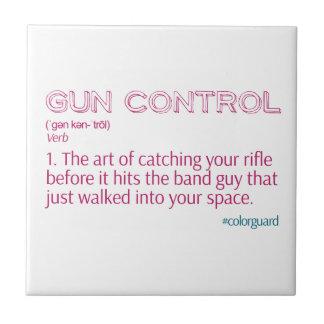 "Rifle divertido ""control de armas "" del guardia de teja  ceramica"