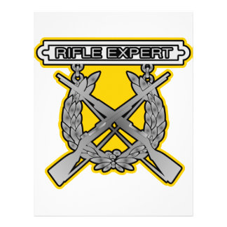 Rifle Expert Badge Personalized Flyer