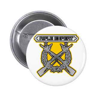 Rifle Expert Badge Pinback Button