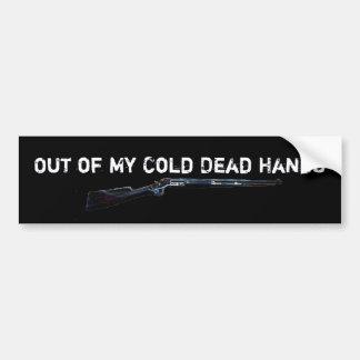 rifle, fuera de mis manos muertas frías, fuera de  pegatina de parachoque