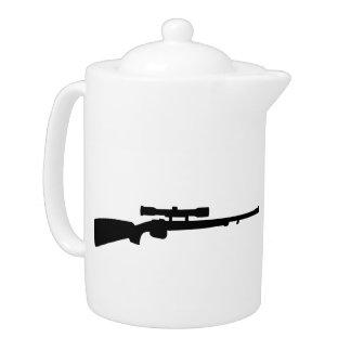 Rifle gun teapot