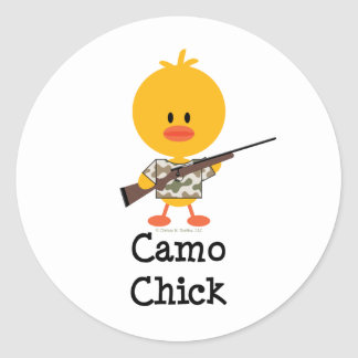 Rifle Hunting Camo Chick Stickers