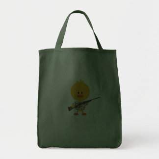 Rifle Hunting Camo Chick Tote Grocery Tote Bag