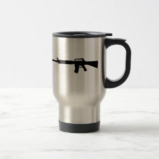 Rifle M4 15 Oz Stainless Steel Travel Mug