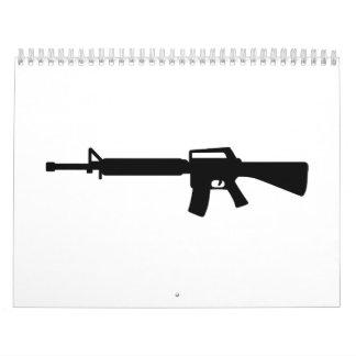 Rifle M4 Calendario De Pared