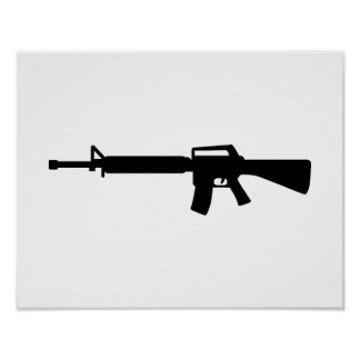 Rifle M4 Poster