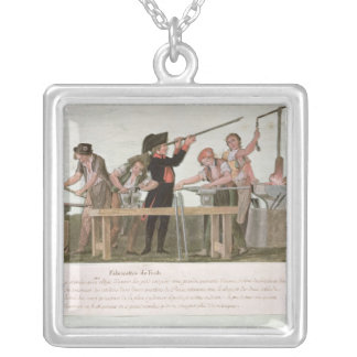 Rifle Makers' Workshop, 1793 Silver Plated Necklace