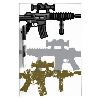 Rifle moderno pizarras blancas