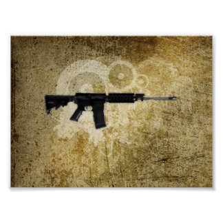 Rifle negro AR-15 del arte de Phil en línea Póster