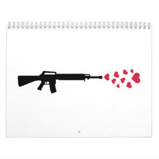 Rifle red hearts calendar