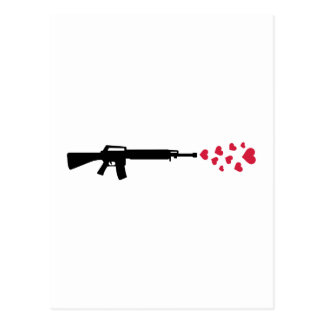 Rifle red hearts postcard