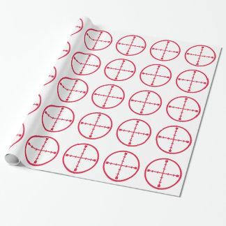 Rifle rojo de los retículos papel de regalo