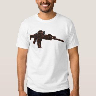 Rifle rojo del ACR de Azmodeus Camo, camiseta Playera