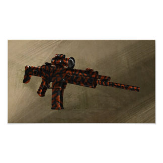 Rifle rojo del ACR de Azmodeus Camo, poster