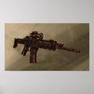 Rifle rojo del ACR de Azmodeus Camo, poster Póster