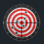 "Rifle Scope and Target Dartboard<br><div class=""desc"">A fun and unique rifle scope and bullet ridden target dartboard. Fully customizable if desired to add images,  names,  and more. Enjoy!</div>"
