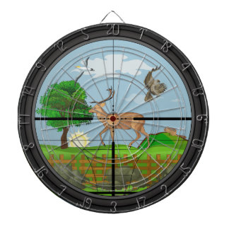 Rifle Scope Hunting Dartboard