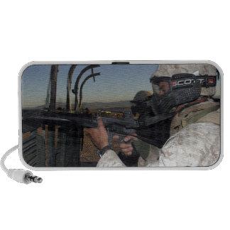 Rifleman keeps alert iPhone speakers