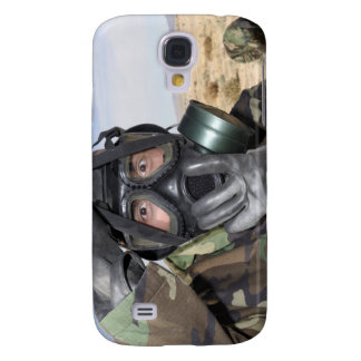 Rifleman puts on his gas mask samsung galaxy s4 covers
