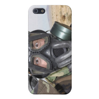 Rifleman puts on his gas mask iPhone 5 covers