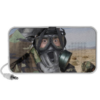 Rifleman puts on his gas mask PC speakers