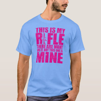 Rifleman's Creed - This Is My Rifles - Hot Pink T-Shirt