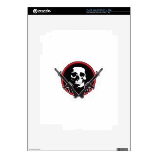 RIFLES AND SKULL SKIN FOR THE iPad 2