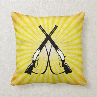 Rifles cruzados amarillo cojines
