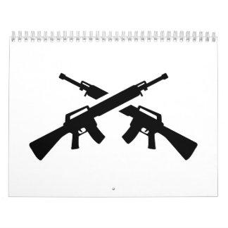 Rifles cruzados calendarios