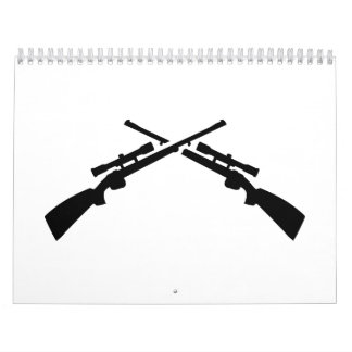 Rifles cruzados calendarios de pared