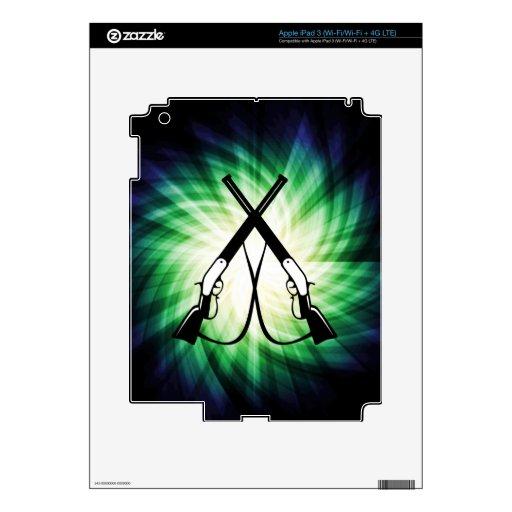 Rifles cruzados; Fresco iPad 3 Pegatinas Skins